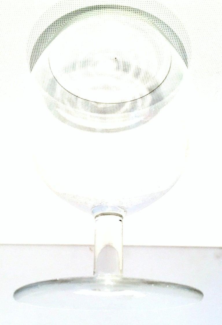 20th Century Tiffany Cut Crystal Liquor Decanter & Stem Drink Glasses, Set of 6 For Sale 9