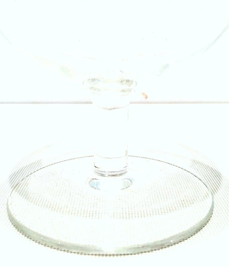20th Century Tiffany Cut Crystal Liquor Decanter & Stem Drink Glasses, Set of 6 For Sale 10