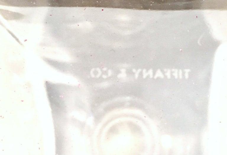 20th Century Tiffany Cut Crystal Liquor Decanter & Stem Drink Glasses, Set of 6 For Sale 11