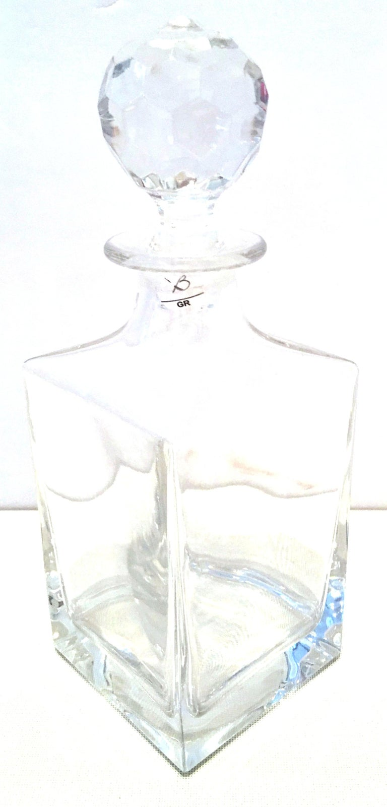 20th Century Tiffany Cut Crystal Liquor Decanter & Stem Drink Glasses, Set of 6 In Good Condition For Sale In West Palm Beach, FL