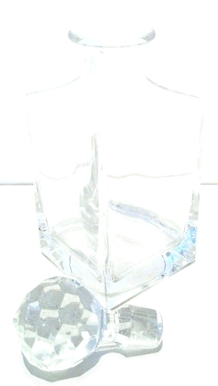 20th Century Tiffany Cut Crystal Liquor Decanter & Stem Drink Glasses, Set of 6 For Sale 1
