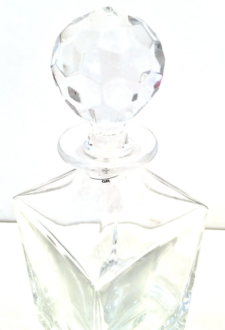20th Century Tiffany Cut Crystal Liquor Decanter & Stem Drink Glasses, Set of 6 For Sale 2