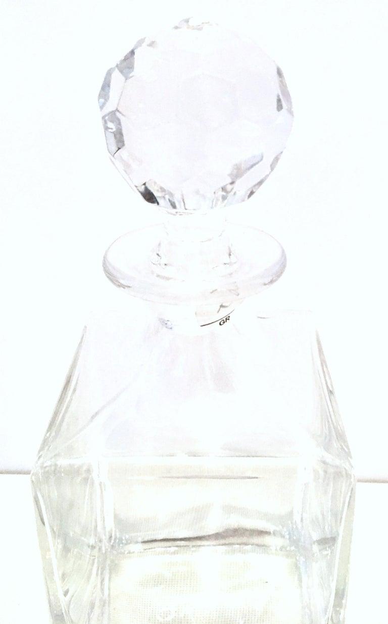 20th Century Tiffany Cut Crystal Liquor Decanter & Stem Drink Glasses, Set of 6 For Sale 3