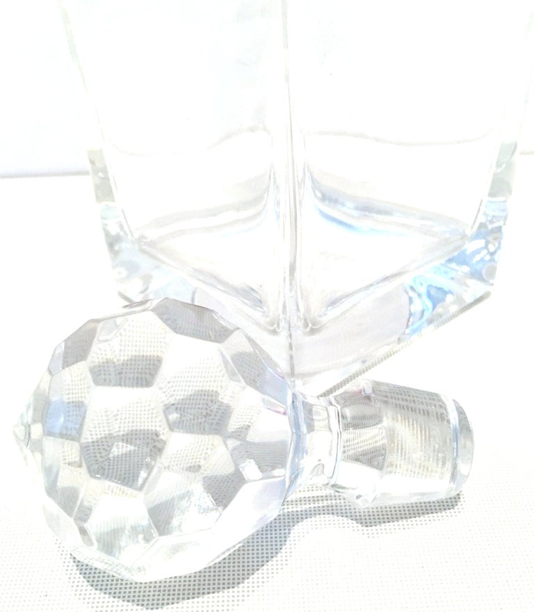 20th Century Tiffany Cut Crystal Liquor Decanter & Stem Drink Glasses, Set of 6 For Sale 4