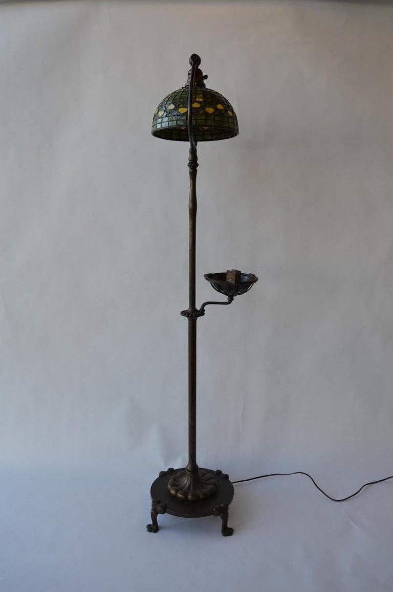 20th Century Tiffany Studios Floor Lamp In Good Condition For Sale In Los Angeles, CA