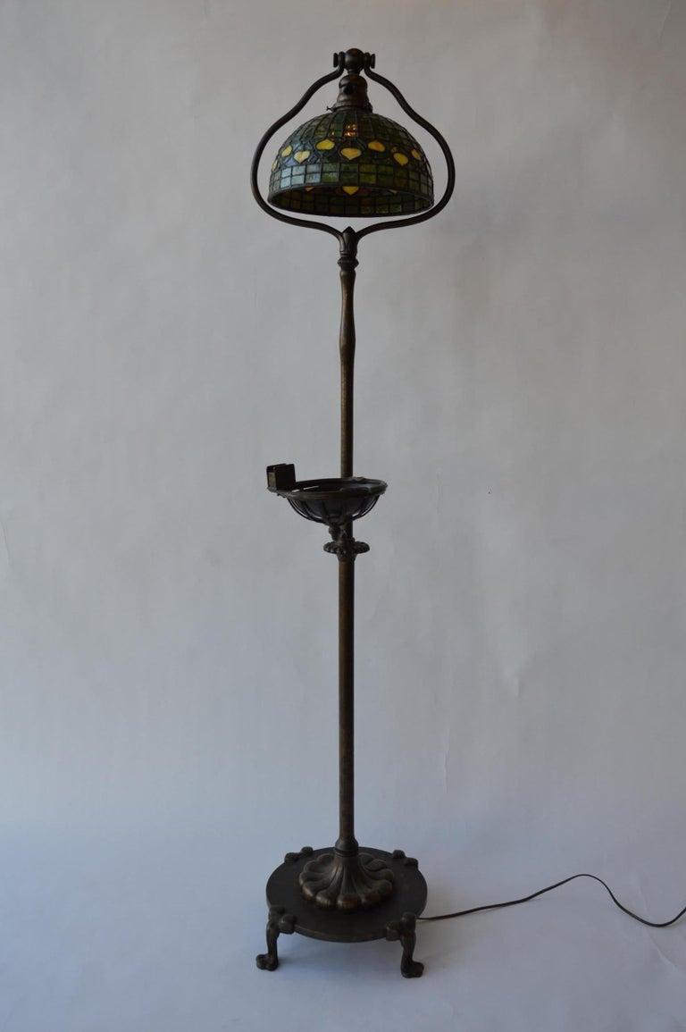 Glass 20th Century Tiffany Studios Floor Lamp For Sale