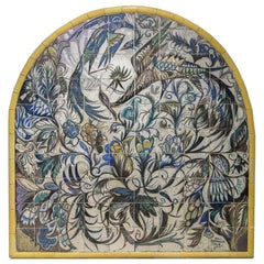 Mid Century Portuguese Azulejos Mural from Jorge Barradas in yellow and blue