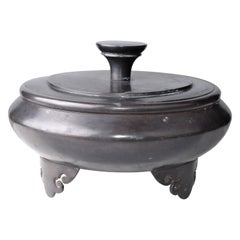 20th Century Traditional Heavy Solid Bronze Urn with Lid