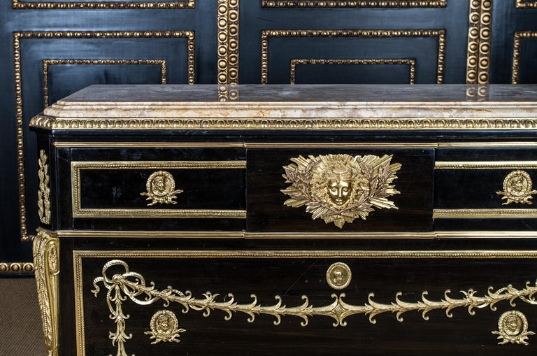 Louis XV 20th Century Transition Style Commode after Jean Henri Riesener For Sale