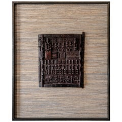 20th Century Tribal Hardwood Dogon Window Panel