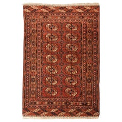 "20th Century Turkestan Wool Rug, Tekke, ""Guls"" Classical Design, circa 1920"