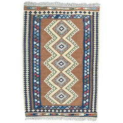 20th Century Turkish Kilim Flat Rug