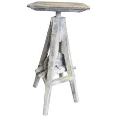 20th Century Turnable and in Height Adjustable Sculptures Working Table