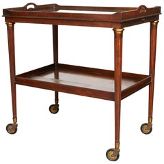20th Century Two-Tier Bar Cart of Rosewood with Mirrored Top