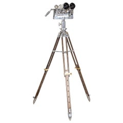 20th Century Tzk Anti-Aircraft Binoculars on Telescopic Stand, circa 1950