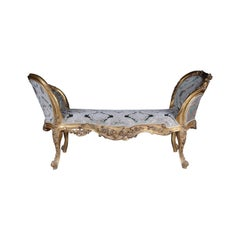 20th Century Unique Bench /Chaiselongue Sofa in the Louis XVI Style