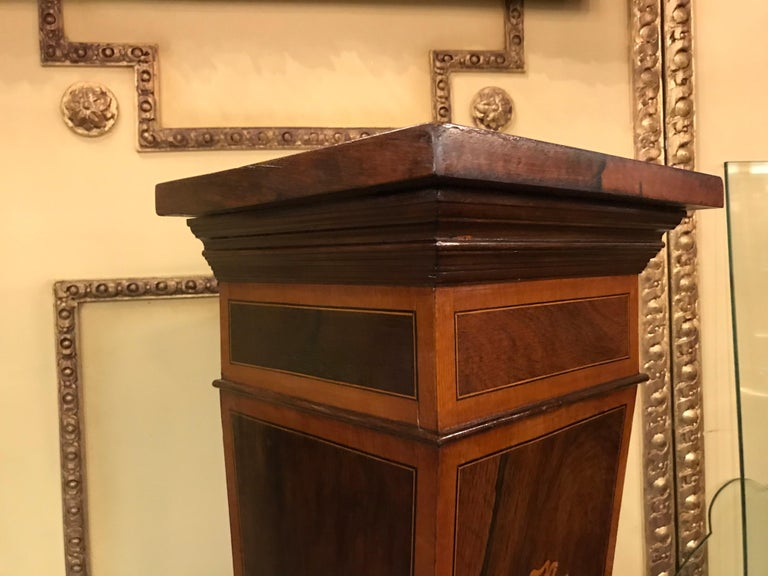20th Century Unique Pillar or Pedestal or Column, Rosewood, England, Victorian For Sale 4