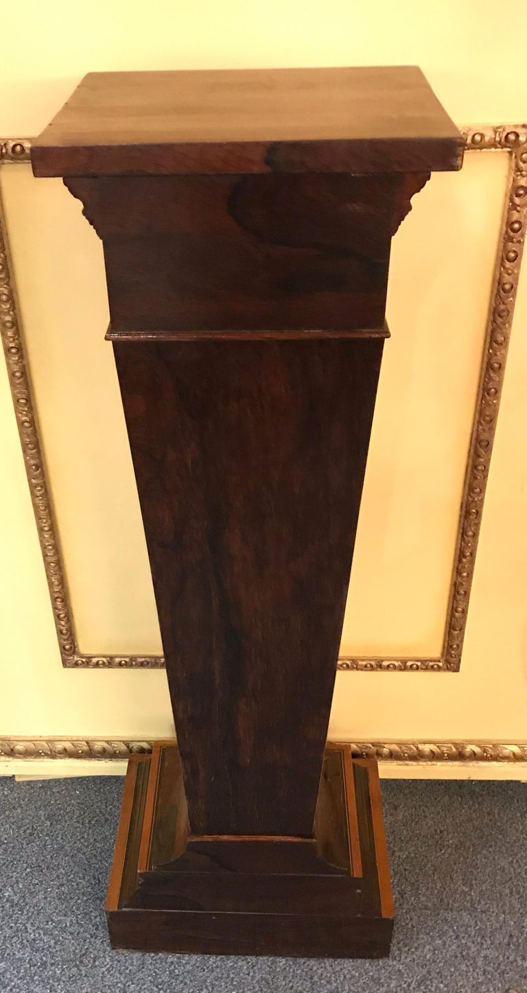 20th Century Unique Pillar or Pedestal or Column, Rosewood, England, Victorian In Good Condition For Sale In Berlin, DE