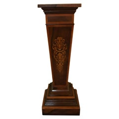 20th Century Unique Pillar or Pedestal or Column, Veneer, England, Victorian