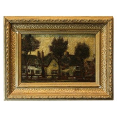 20th Century Unknown Artist Oil on Panel Painting, Landscape