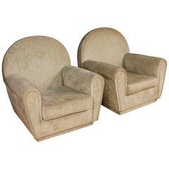 20. Jahrhundert, Samt, Italienischer in Frau Stil, Paar Italienischer Sessel, 1970