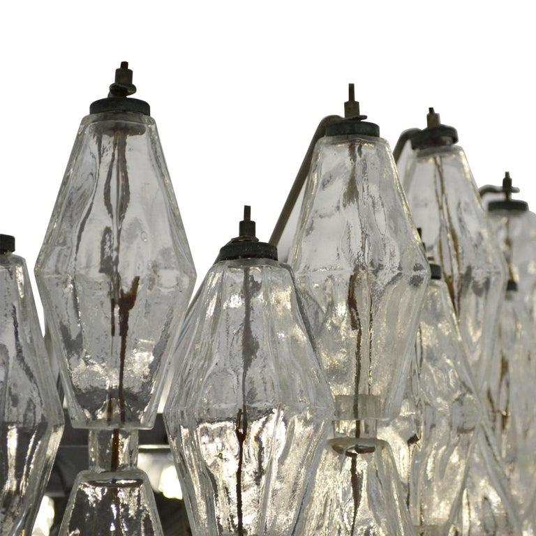 20th Century Venini Chandelier Collection Poliedri in Murano Glass In Good Condition For Sale In Turin, IT