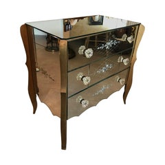 20th Century Venetian Mirror Commode, 1950s