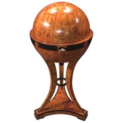 20th Century Vienna Biedermeier Style Globe Sewing Table