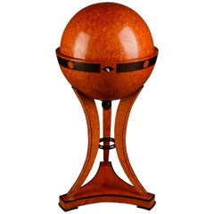 20th Century Vienna Biedermeier Style Globe Sewing Table