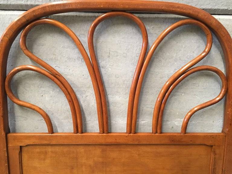 Mid-Century Modern 20th Century Vienna Secession Single Bentwood Headboard For Sale