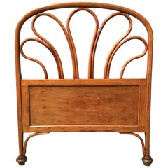20th Century Vienna Secession Single Bentwood Headboard