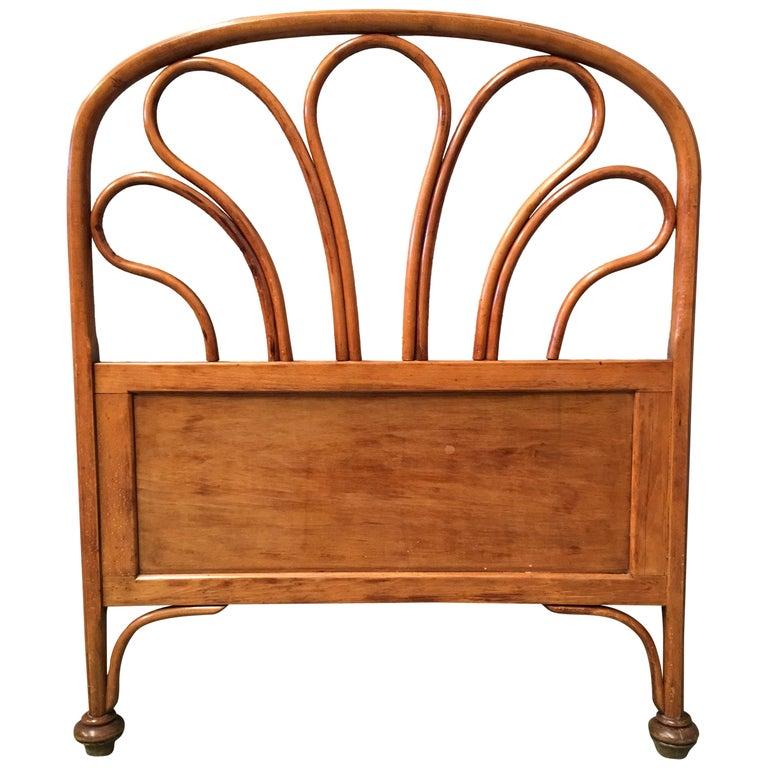 20th Century Vienna Secession Single Bentwood Headboard For Sale