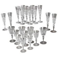 20th Century Vintage 36 Pieces Crystal Table Service by Baccarat