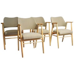 20th Century Vintage Black Cees Braakman Dining Chairs for Pastoe, Set of 4