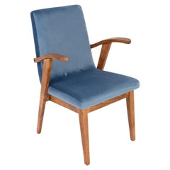 20th Century Vintage Blue Armchair by Mieczyslaw Puchala, 1960s