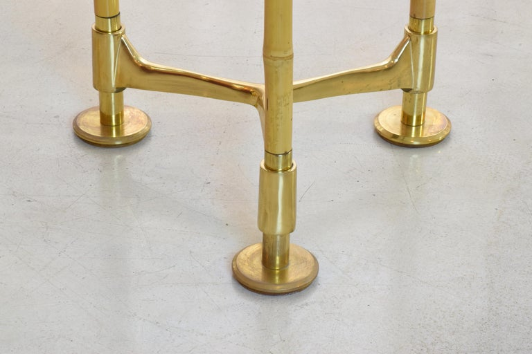 20th Century Vintage Brass Bamboo Desk or Console, 1970s For Sale 10