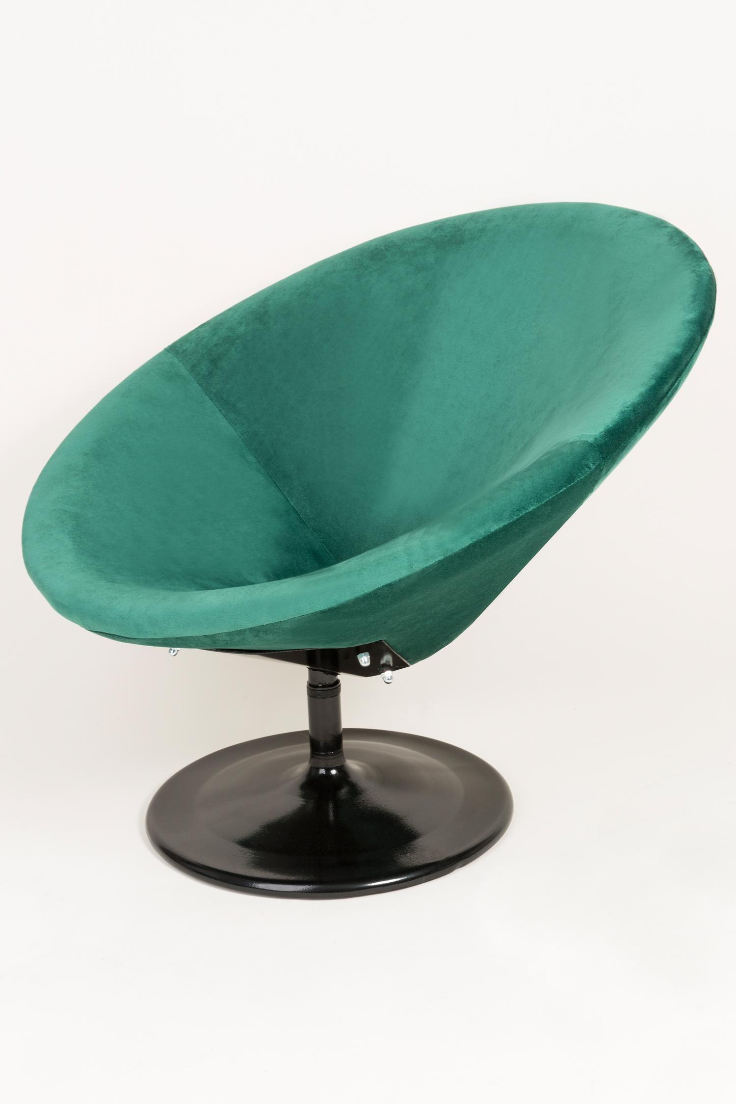 Superb 20Th Century Vintage Dark Green Swivel Armchair 1960S Unemploymentrelief Wooden Chair Designs For Living Room Unemploymentrelieforg