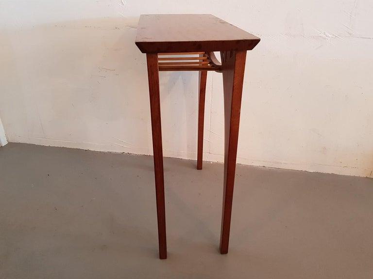 European 20th Century Vintage Design Teak Wood Side Table For Sale