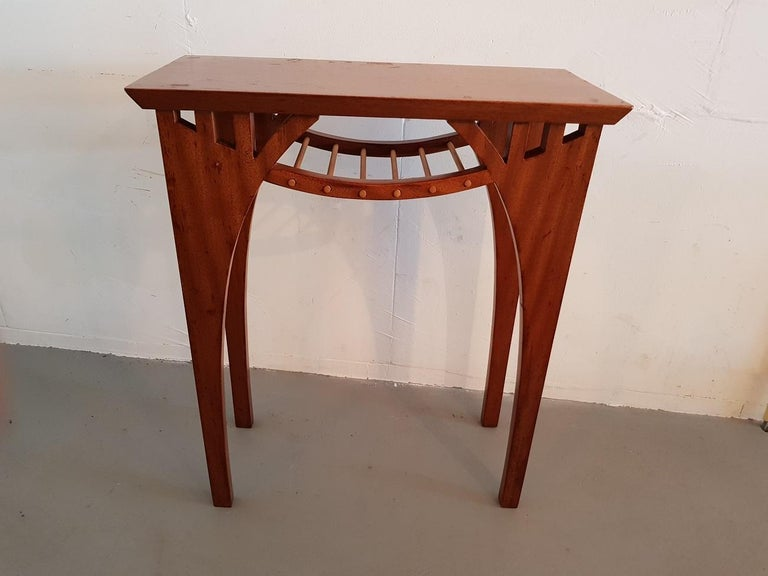 20th Century Vintage Design Teak Wood Side Table In Good Condition For Sale In Raalte, NL