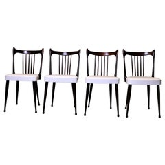 20th Century Vintage Dining Chairs from Dutch Stevens Producer Set of 4