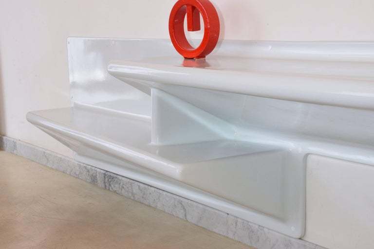 20th Century Vintage Fiberglass Hanging Console or Desk by Knoll, 1970s For Sale 7