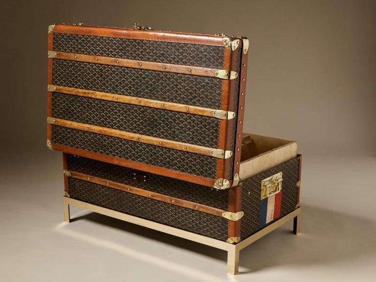 French 20th Century Vintage Goyard Trunk, circa 1920-1930 For Sale