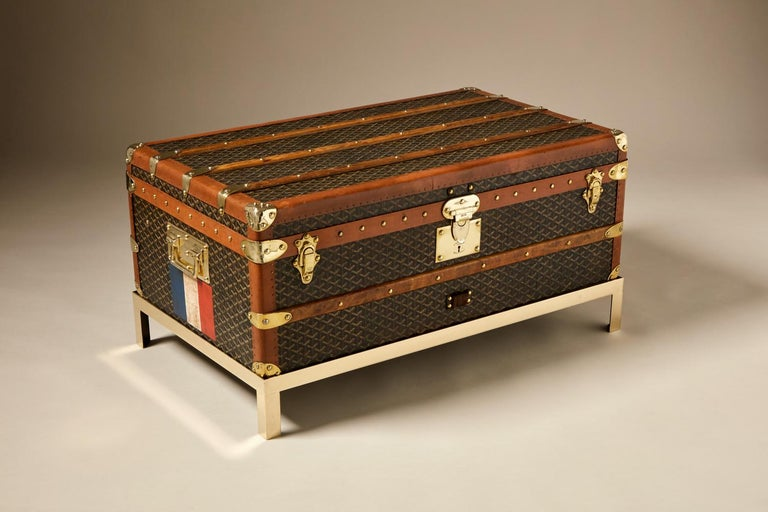 20th Century Vintage Goyard Trunk, circa 1920-1930 In Excellent Condition For Sale In London, GB