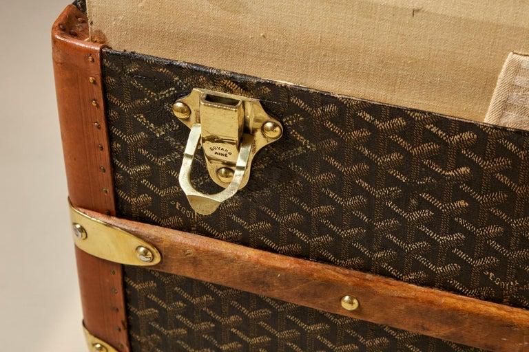 20th Century Vintage Goyard Trunk, circa 1920-1930 For Sale 2