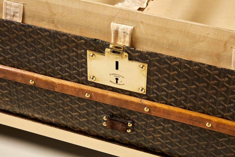 20th Century Vintage Goyard Trunk, circa 1920-1930 For Sale 3