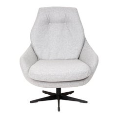 20th Century Vintage Gray Swivel Armchair, 1960s