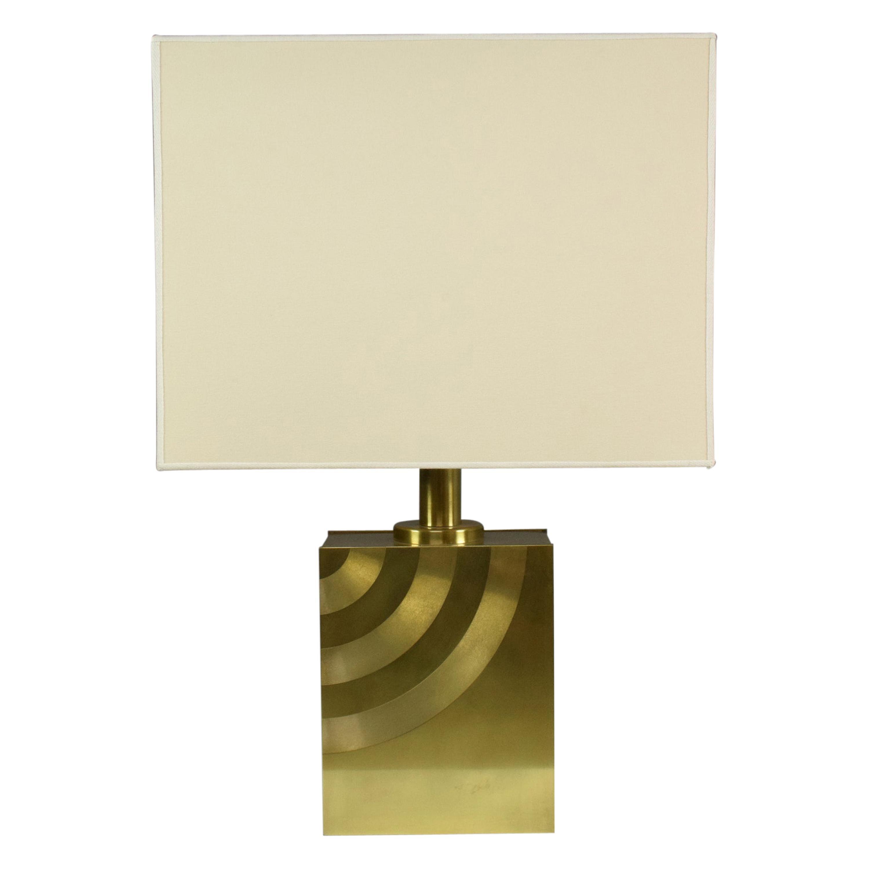 20th Century Vintage Italian Brass Table Lamp, 1970s