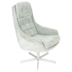 20th Century Vintage Light Green Swivel Armchair, 1960s