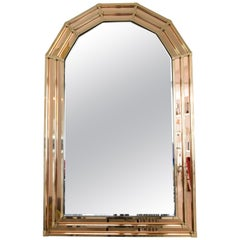 20th Century Vintage Octagon Brass Mirror, 1970s