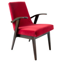 20th Century Vintage Red Armchair by Mieczyslaw Puchala, 1960s